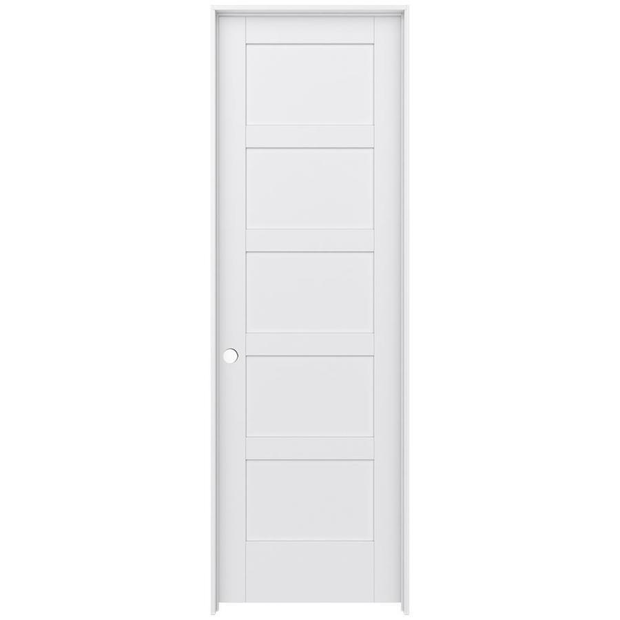 JELD-WEN MODA Primed Wood Pine Single Prehung Interior Door (Common: 30-in X 96-in; Actual: 31.5625-in x 97.6875-in)