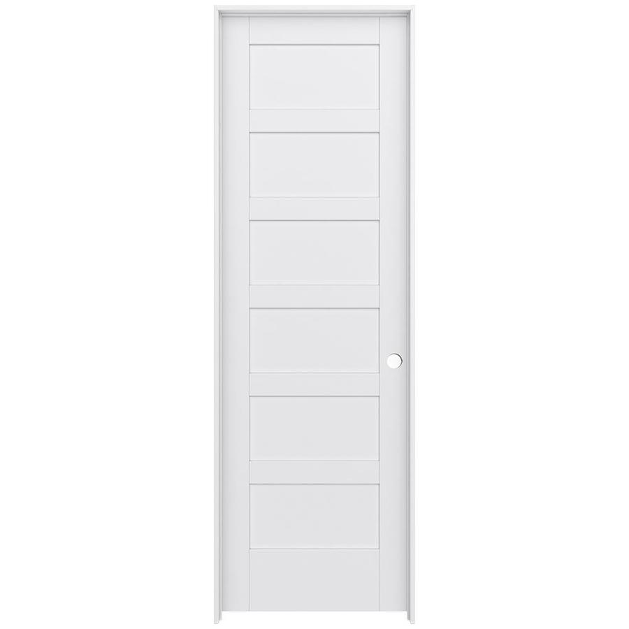 JELD-WEN Moda Prehung Solid Core 6-Panel Interior Door (Common: 28-in x 96-in; Actual: 29.562-in x 97.688-in)
