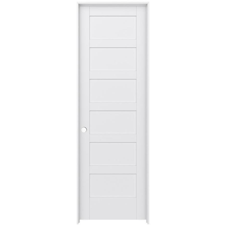JELD-WEN Moda Prehung Solid Core 6-Panel Interior Door (Common: 28-in x 96-in; Actual: 29.562-in x 97.688-in)