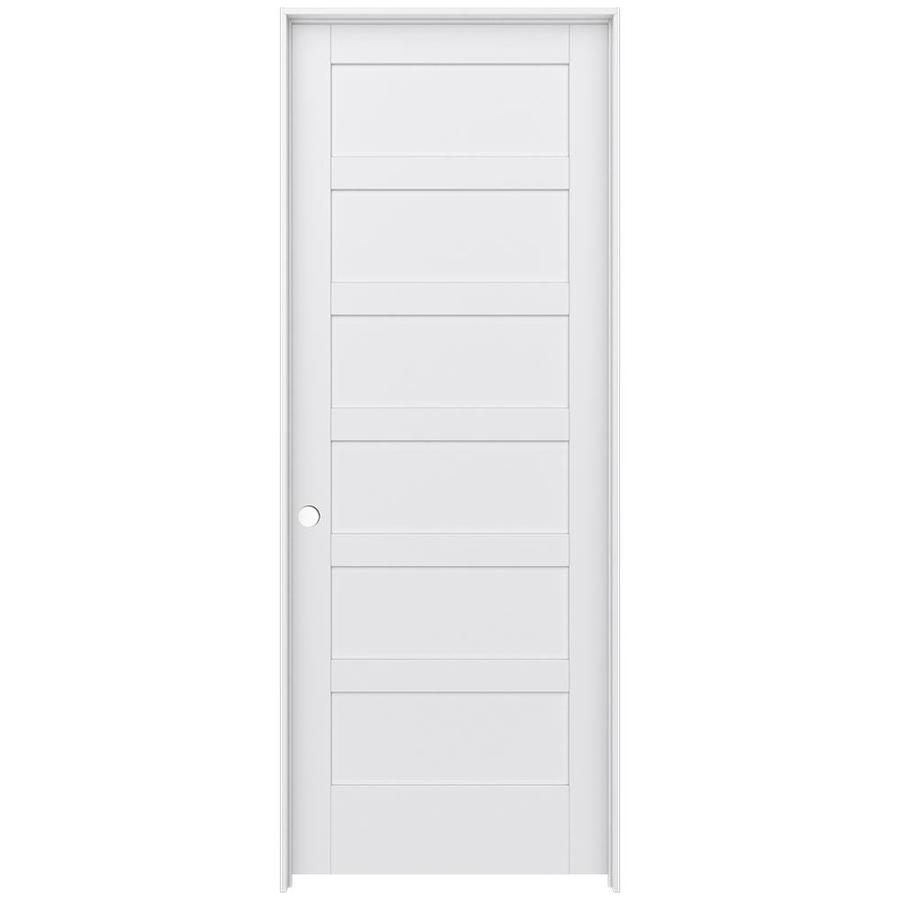 JELD-WEN MODA Primed Interior Door with Hardware (Common: 36-in x 96-in; Actual: 37.562-in x 97.688-in)