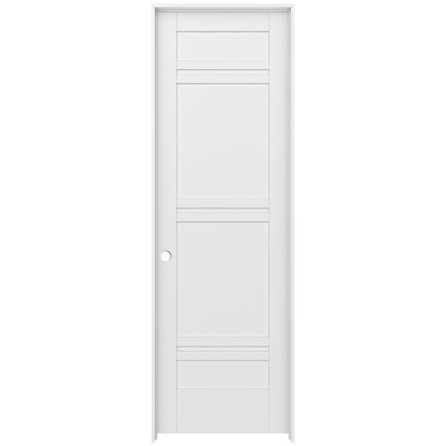 JELD-WEN Moda Prehung Solid Core 7-Panel Interior Door (Common: 24-in x 96-in; Actual: 25.562-in x 97.688-in)