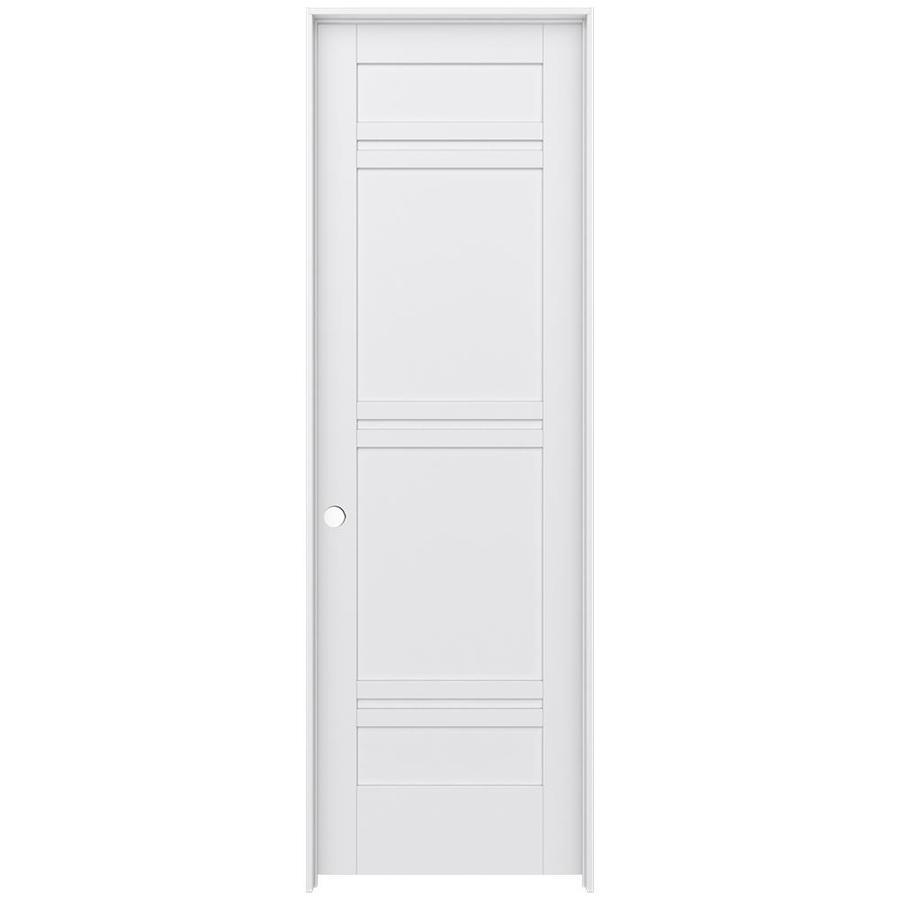 JELD-WEN MODA Primed Interior Door with Hardware (Common: 30-in x 96-in; Actual: 31.562-in x 97.688-in)