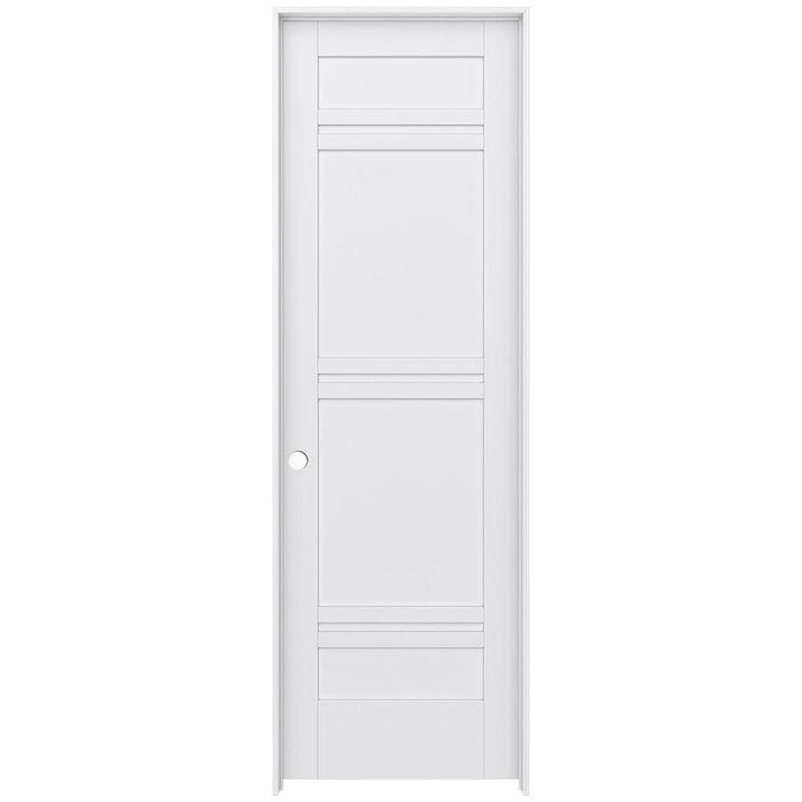 JELD-WEN MODA Primed Interior Door with Hardware (Common: 32-in x 96-in; Actual: 33.562-in x 97.688-in)
