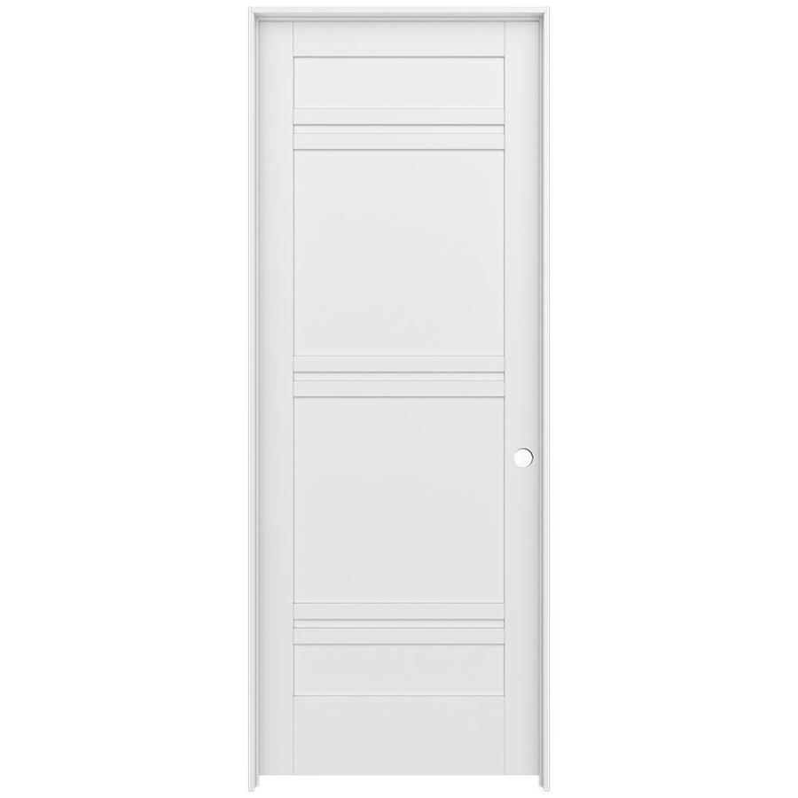 Single Hung Doors : Shop jeld wen moda primed panel wood pine single pre