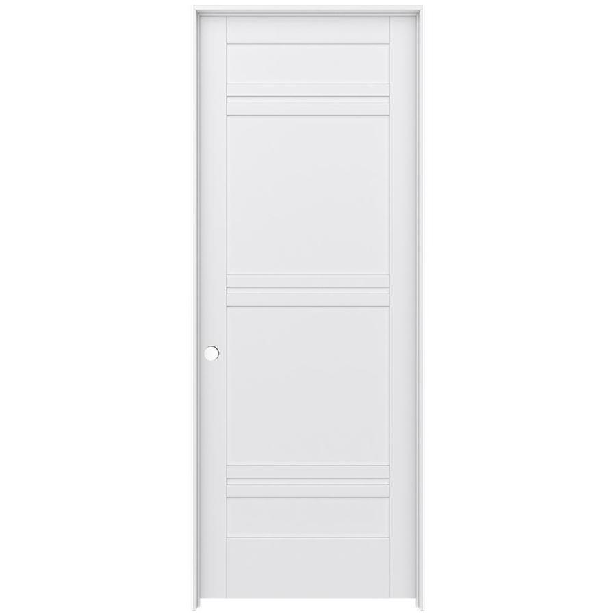JELD-WEN Moda Prehung Solid Core 7-Panel Interior Door (Common: 36-in x 96-in; Actual: 37.562-in x 97.688-in)