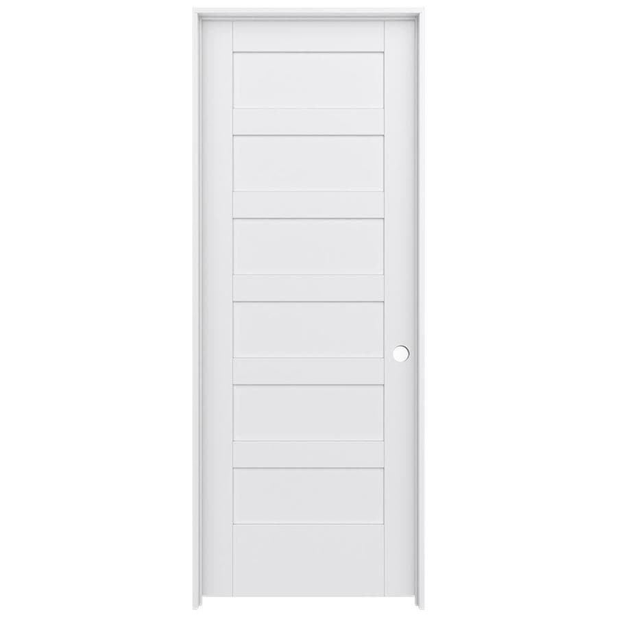 JELD-WEN MODA Primed Wood Pine Single Prehung Interior Door (Common: 24-in X 80-in; Actual: 25.5625-in x 81.9875-in)