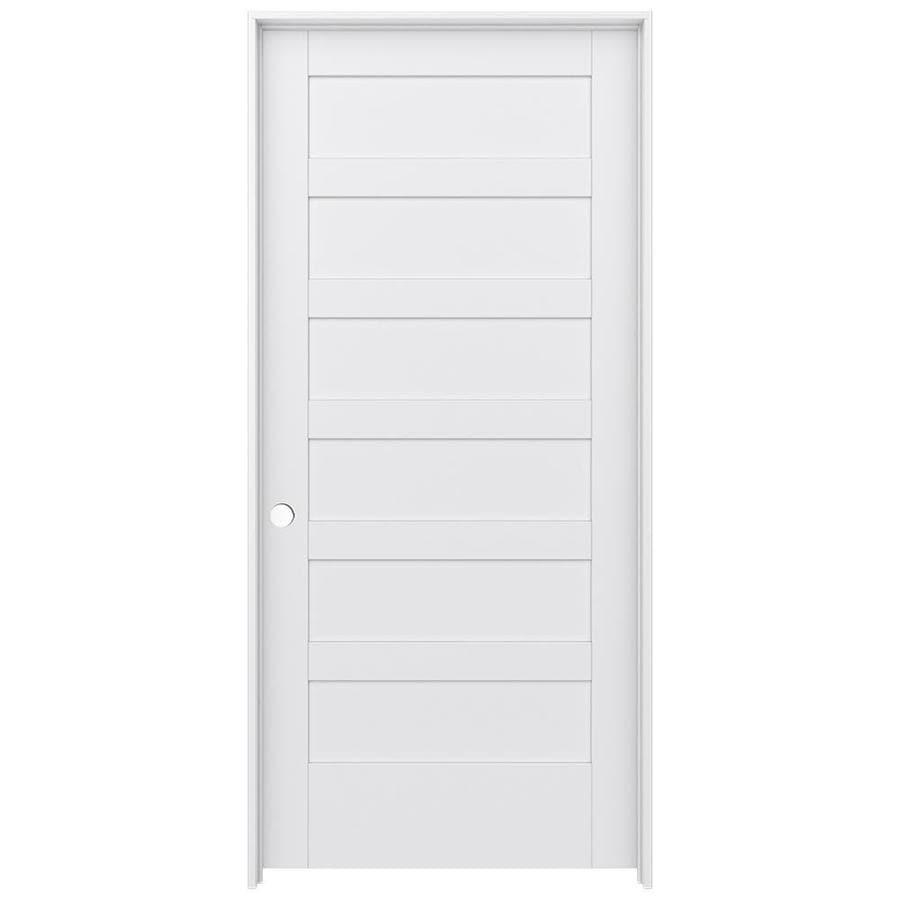 JELD-WEN MODA Primed Solid Core MDF Pine Slab Interior Door (Common: 36-in x 80-in; Actual: 37.5600-in x 81.6900-in)