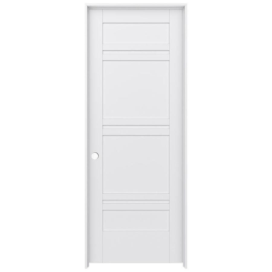 JELD-WEN MODA Primed Solid Core MDF Pine Slab Interior Door (Common: 24-in x 80-in; Actual: 25.5600-in x 81.6900-in)