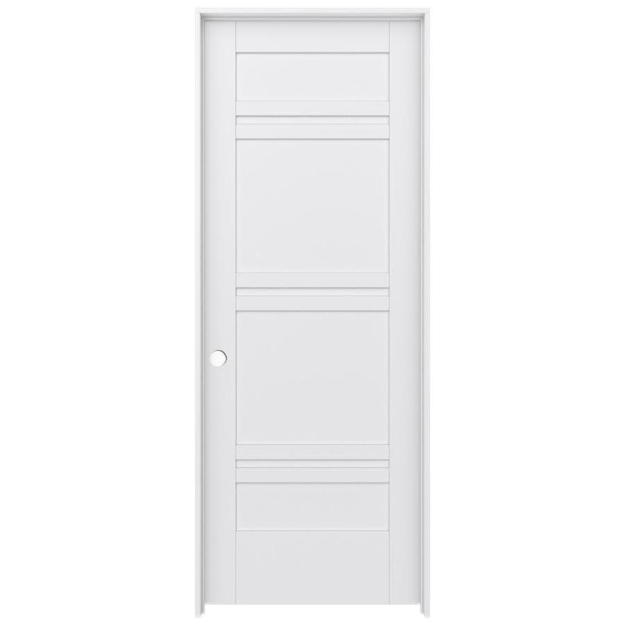 JELD-WEN MODA Primed Interior Door with Hardware (Common: 28-in x 80-in; Actual: 29.562-in x 81.688-in)
