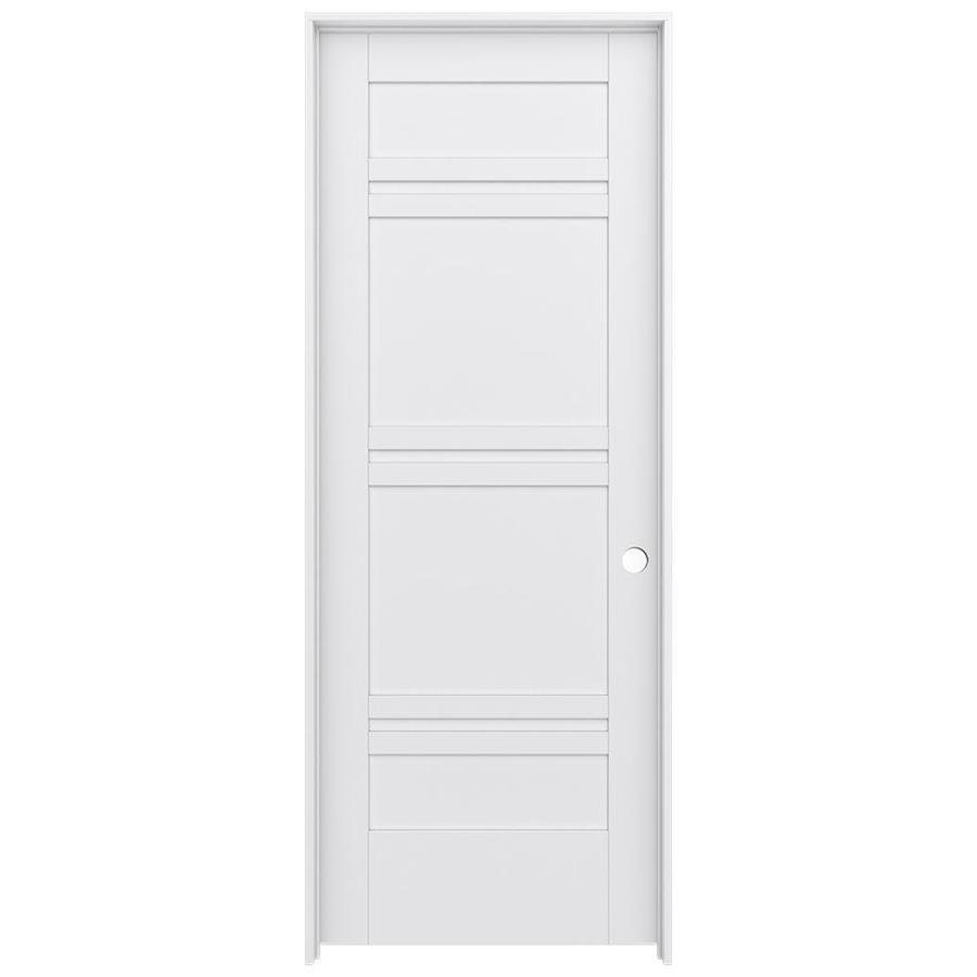 JELD-WEN MODA Primed Interior Door with Hardware (Common: 32-in x 80-in; Actual: 33.562-in x 81.688-in)
