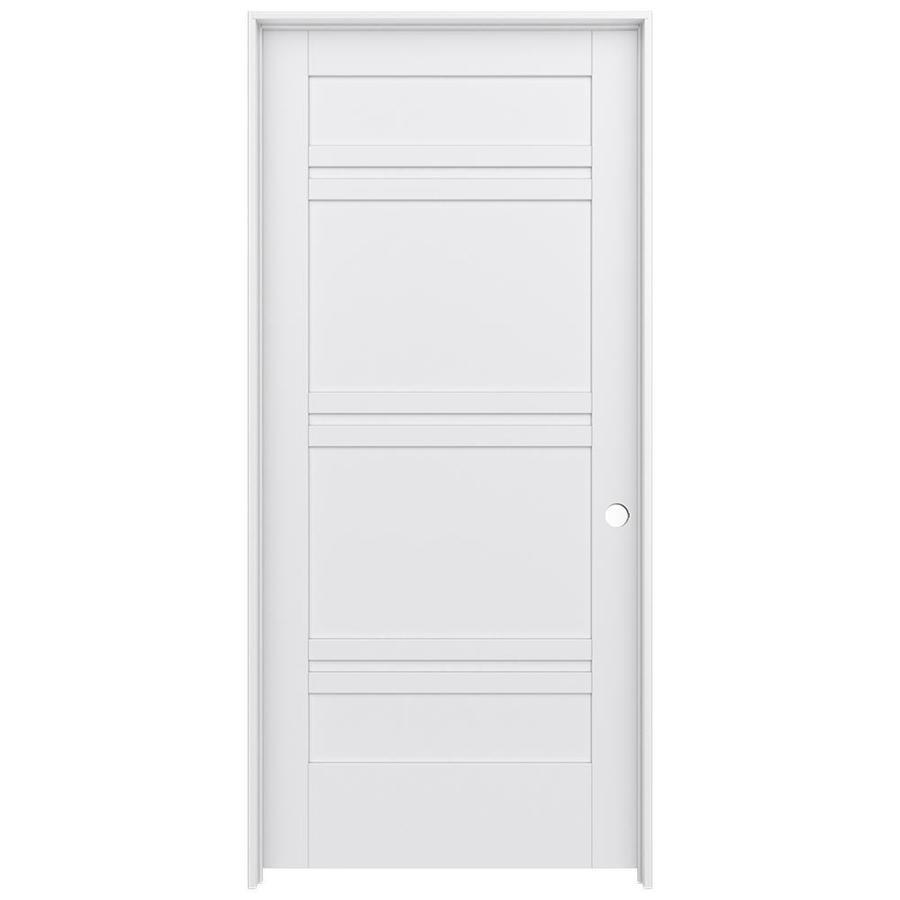 JELD-WEN MODA 7-Panel Pine Single Prehung Interior Door (Common: 36-in x 80-in; Actual: 37.562-in x 81.688-in)