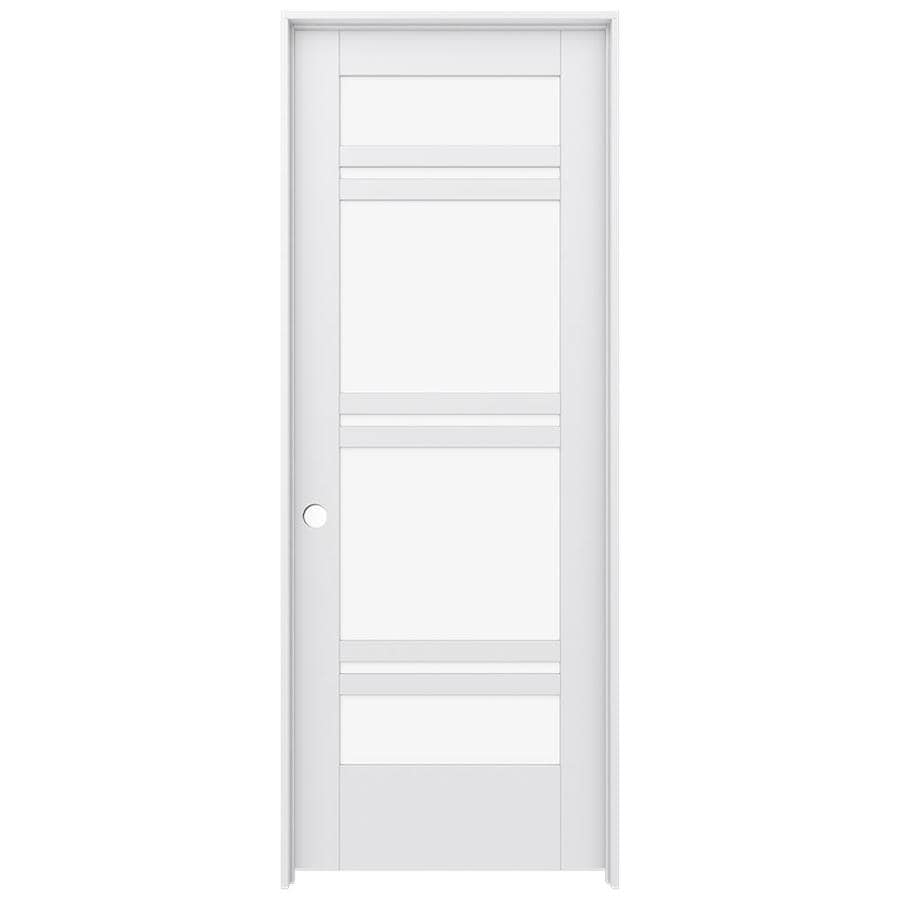 JELD-WEN Moda Prehung Solid Core 7-Lite Clear Glass Interior Door (Common: 32-in x 80-in; Actual: 33.562-in x 81.688-in)