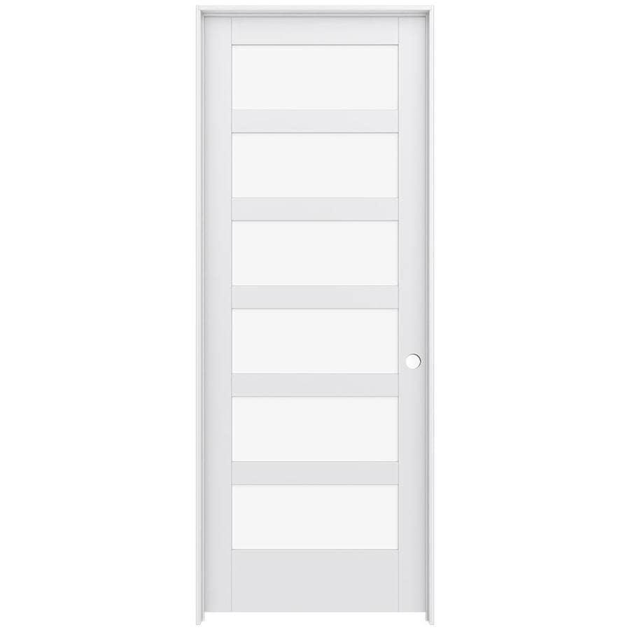 JELD-WEN MODA Clear Glass Pine Slab Interior Door (Common: 36-in x 96-in; Actual: 37.5600-in x 97.6900-in)