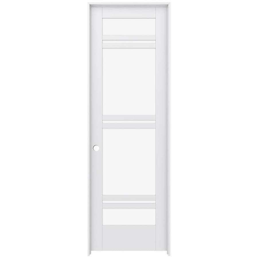 JELD-WEN MODA Primed Clear Glass Interior Door with Hardware (Common: 24-in x 96-in; Actual: 25.562-in x 97.688-in)