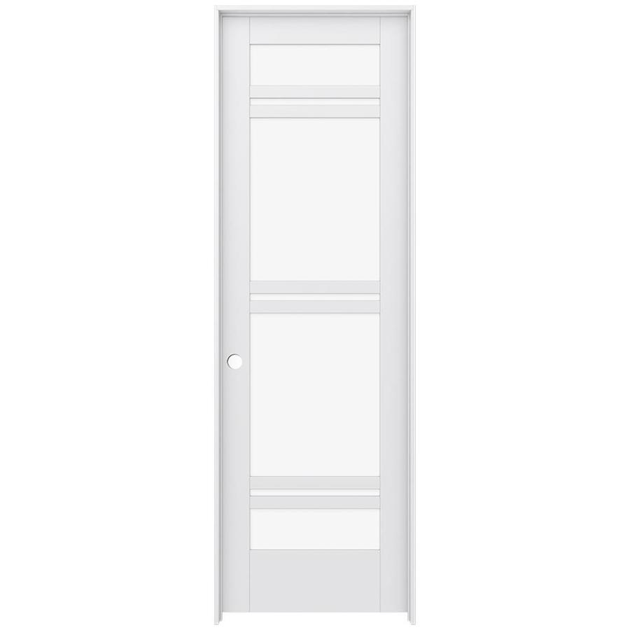 JELD-WEN MODA Primed Clear Glass Interior Door with Hardware (Common: 28-in x 96-in; Actual: 29.562-in x 97.688-in)