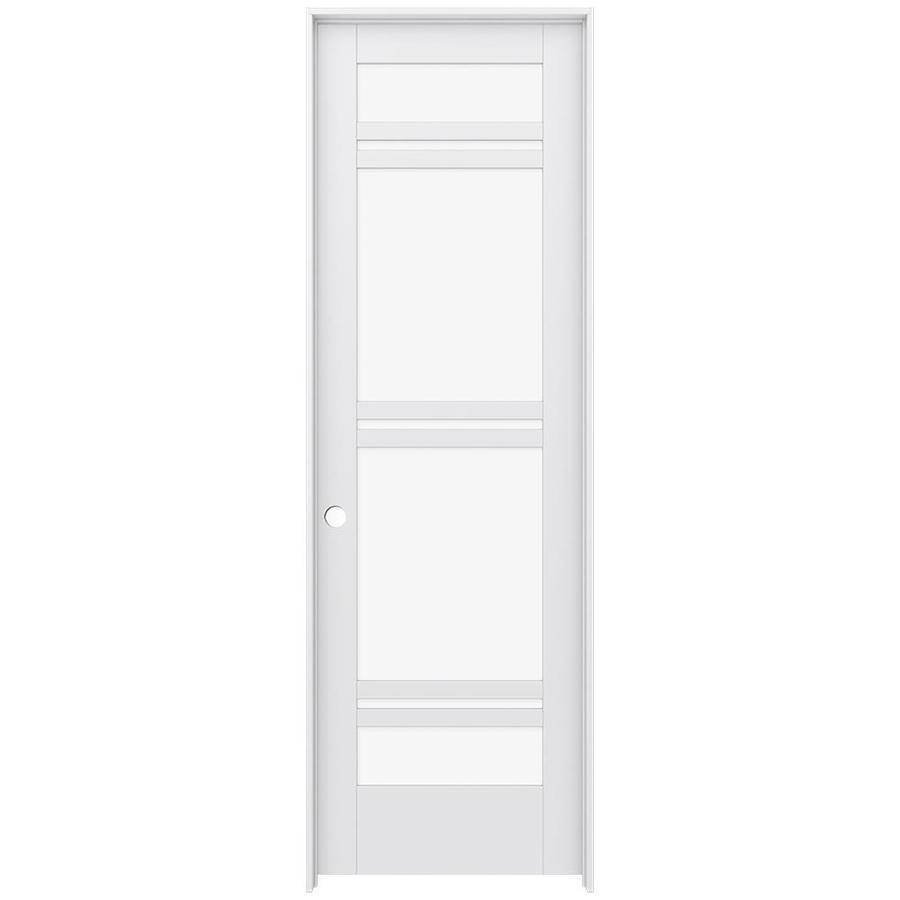 JELD-WEN Moda Prehung Solid Core 7-Lite Clear Glass Interior Door (Common: 30-in x 96-in; Actual: 31.562-in x 97.688-in)