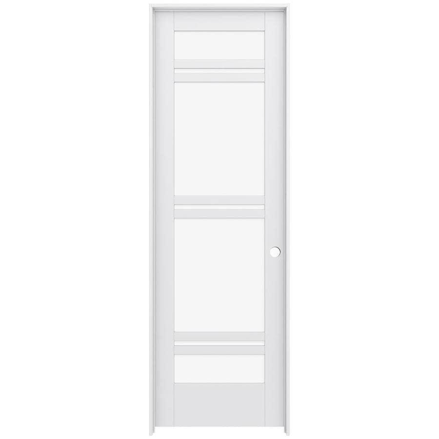 JELD-WEN Moda Prehung Solid Core 7-Lite Clear Glass Interior Door (Common: 32-in x 96-in; Actual: 33.562-in x 97.688-in)