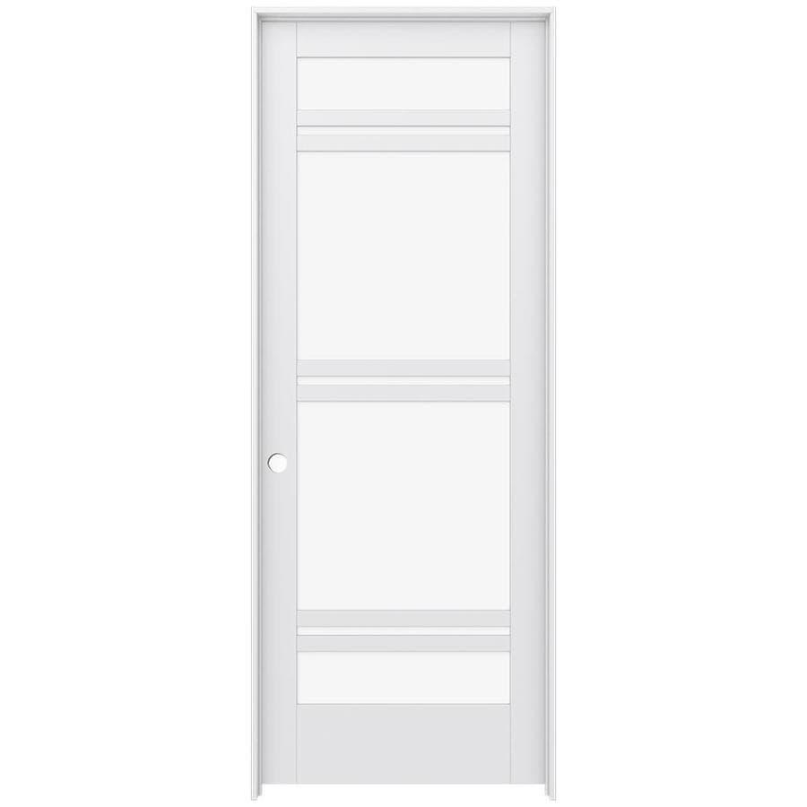 JELD-WEN Moda Prehung Solid Core 7-Lite Clear Glass Interior Door (Common: 36-in x 96-in; Actual: 37.562-in x 97.688-in)