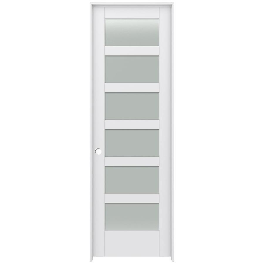 JELD-WEN MODA Frosted Glass Pine Slab Interior Door (Common: 30-in x 96-in; Actual: 31.5600-in x 97.6900-in)