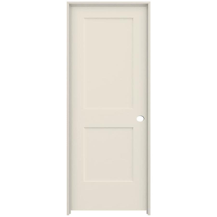 ReliaBilt Cambridge Primed Hollow Core Molded Composite Single Prehung Interior Door (Common: 28-in x 80-in; Actual: 29.562-in x 81.688-in)