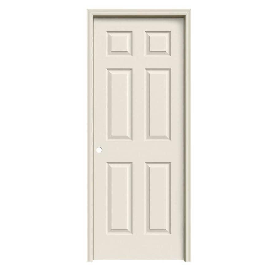 ReliaBilt Colonist Primed Solid Core Molded Composite Single Prehung Interior Door (Common: 32-in x 80-in; Actual: 33.5620-in x 81.6880-in)