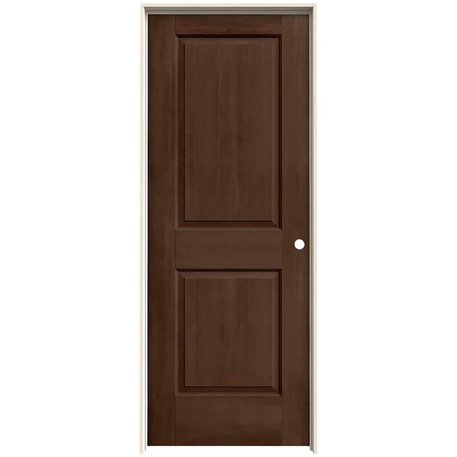 JELD-WEN Woodview Milk Chocolate 2-Panel Single Prehung Interior Door (Common: 24-in x 80-in; Actual: 25.562-in x 81.688-in)