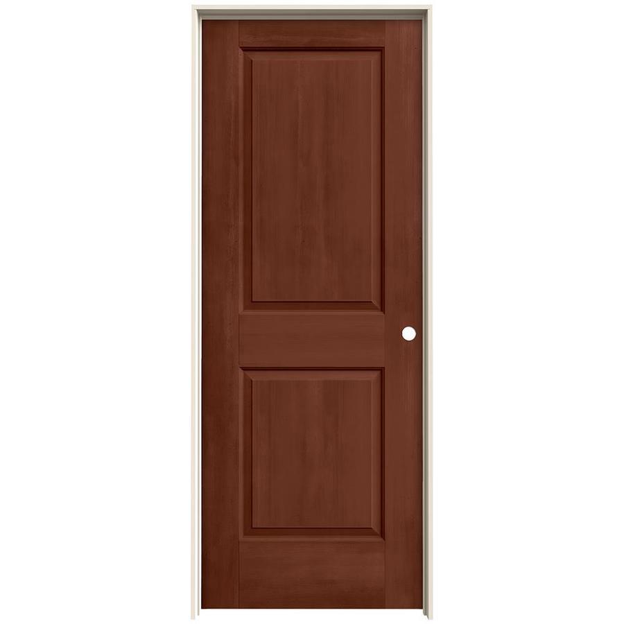 JELD-WEN View Amaretto Hollow Core Molded Composite Single Prehung Interior Door (Common: 30-in x 80-in; Actual: 31.562-in x 81.688-in)