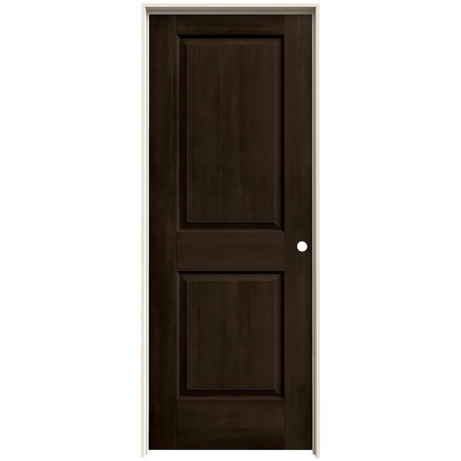 JELD-WEN View Espresso Hollow Core Molded Composite Single Prehung Interior Door (Common: 30-in x 80-in; Actual: 31.562-in x 81.688-in)