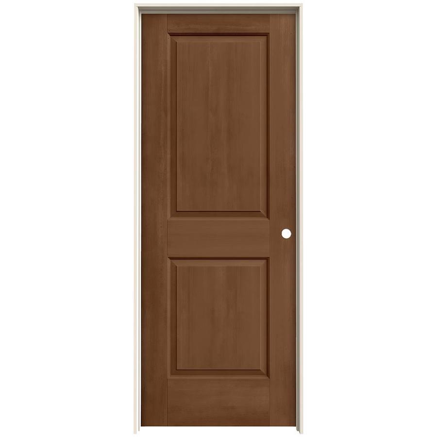 JELD-WEN Woodview Hazelnut 2-Panel Single Prehung Interior Door (Common: 32-in x 80-in; Actual: 33.562-in x 81.688-in)