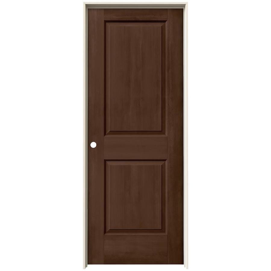 JELD-WEN View Milk Chocolate Hollow Core Molded Composite Single Prehung Interior Door (Common: 32-in x 80-in; Actual: 33.562-in x 81.688-in)