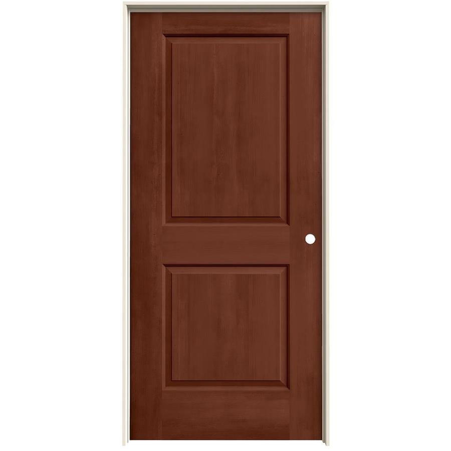Shop Jeld Wen Woodview Amaretto 2 Panel Single Prehung Interior Door Common 36 In X 80 In