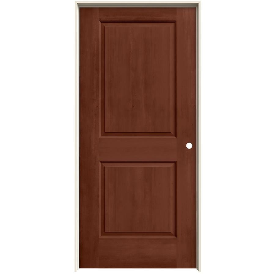 JELD-WEN View Amaretto Hollow Core Molded Composite Single Prehung Interior Door (Common: 36-in x 80-in; Actual: 37.562-in x 81.688-in)