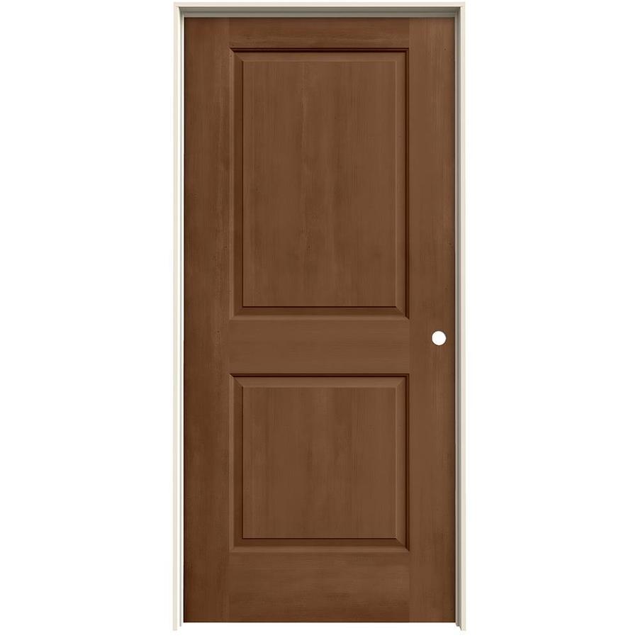 JELD-WEN Woodview Hazelnut 2-Panel Square Single Prehung Interior Door (Common: 36-in x 80-in; Actual: 37.562-in x 81.688-in)