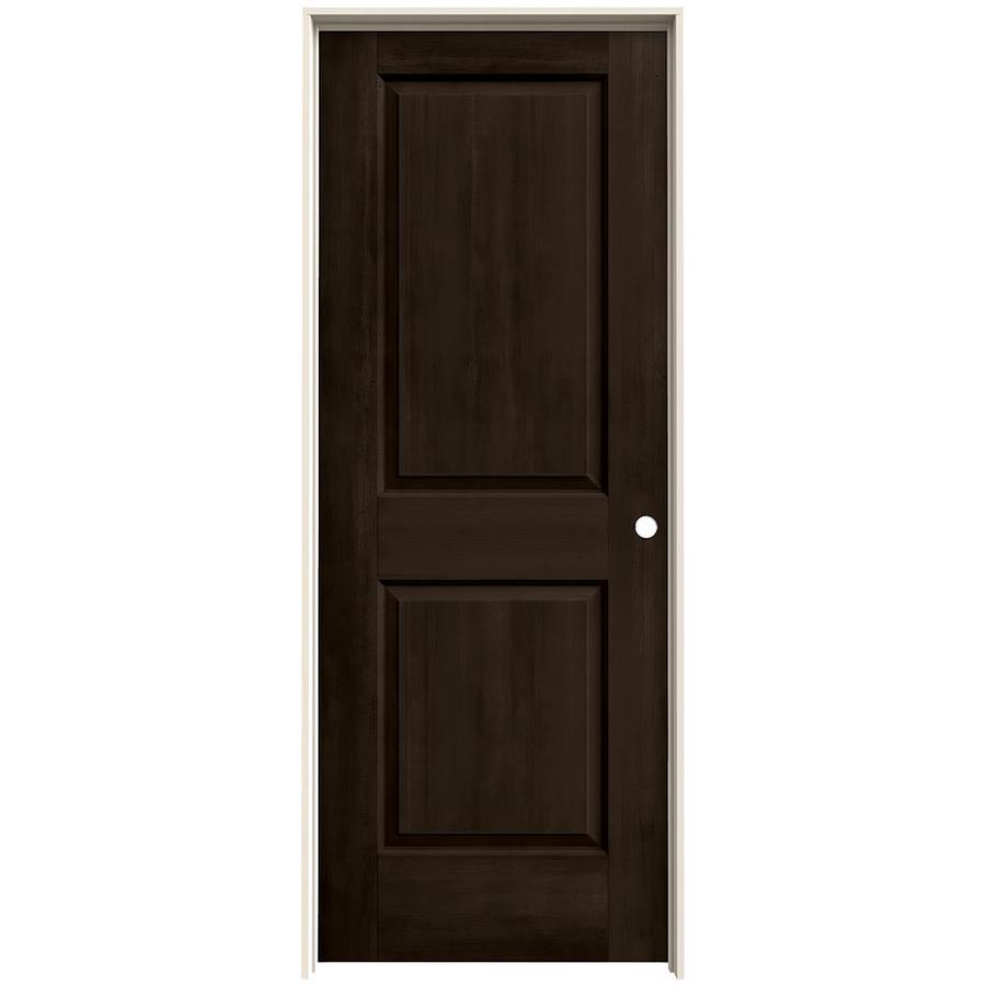 JELD-WEN Woodview Espresso 2-Panel Single Prehung Interior Door (Common: 24-in x 80-in; Actual: 25.562-in x 81.688-in)