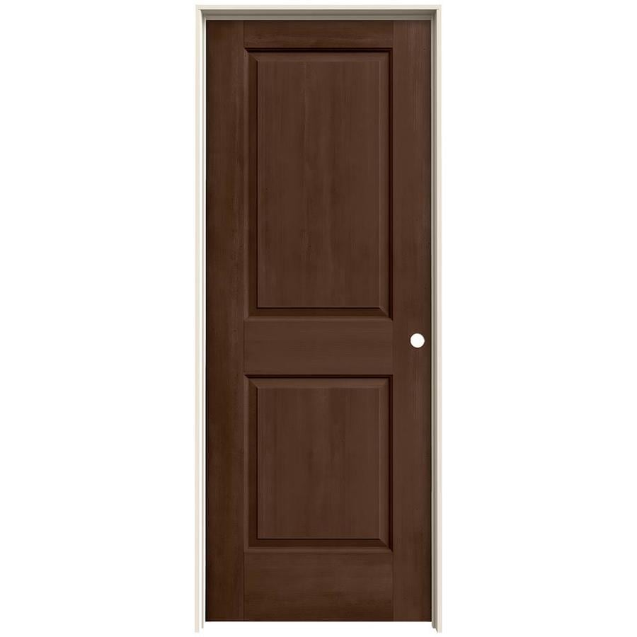 Shop Jeld Wen View Milk Chocolate Solid Core Molded Composite Single Prehung Interior Door