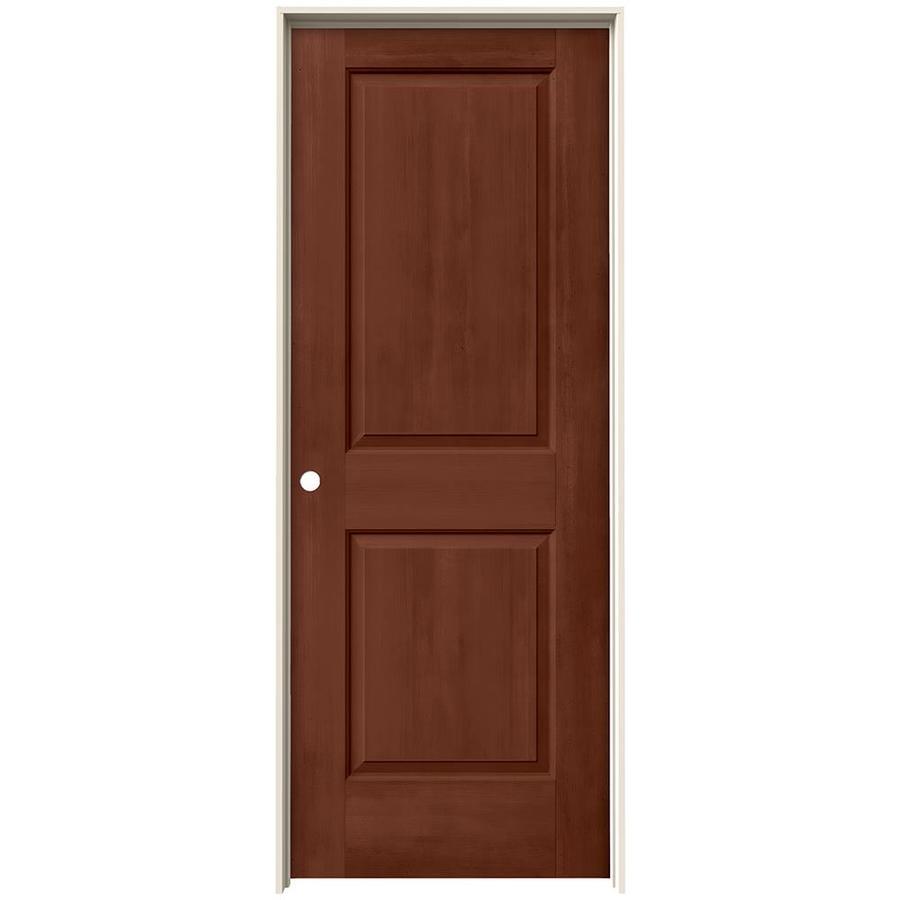 JELD-WEN View Amaretto Solid Core Molded Composite Single Prehung Interior Door (Common: 24-in x 80-in; Actual: 25.562-in x 81.688-in)
