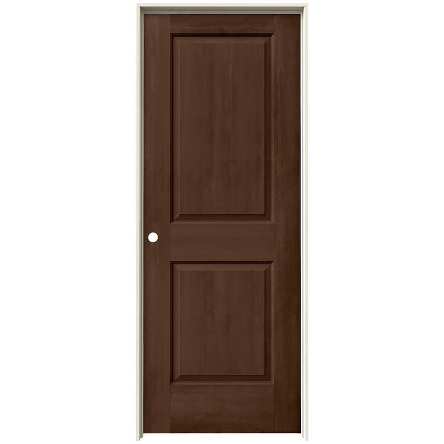 JELD-WEN Woodview Milk Chocolate 2-Panel Single Prehung Interior Door (Common: 32-in x 80-in; Actual: 33.562-in x 81.688-in)