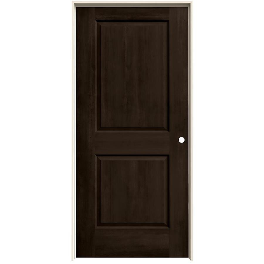 JELD-WEN Woodview Espresso 2-Panel Single Prehung Interior Door (Common: 36-in x 80-in; Actual: 37.562-in x 81.688-in)