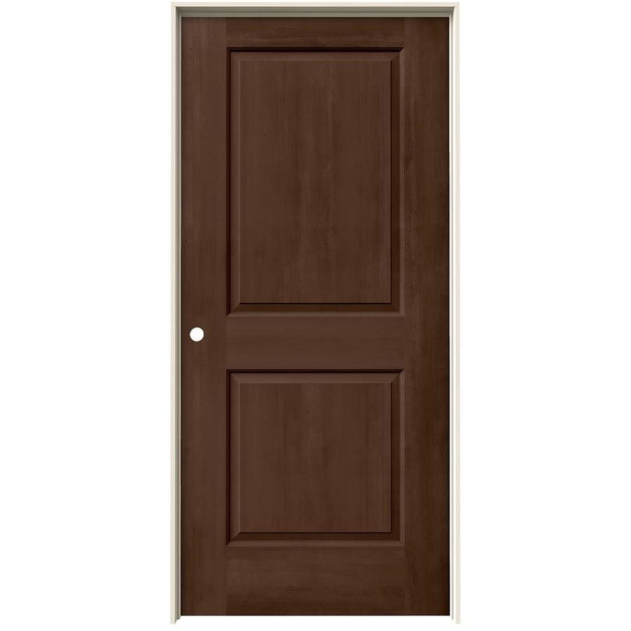 JELD-WEN Woodview Milk Chocolate 2-Panel Single Prehung Interior Door (Common: 36-in x 80-in; Actual: 37.562-in x 81.688-in)