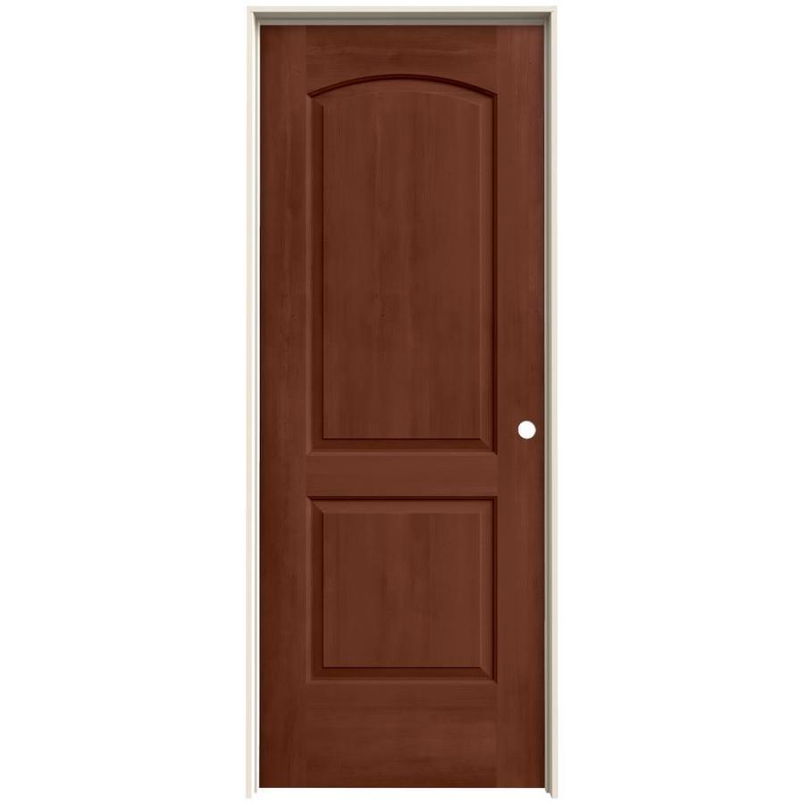 JELD-WEN Woodview Amaretto Hollow Core Molded Composite Single Prehung Interior Door (Common: 24-in x 80-in; Actual: 25.562-in x 81.688-in)
