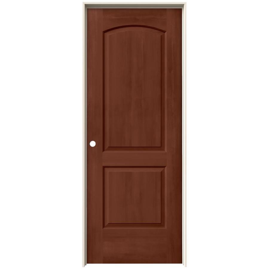 JELD-WEN View Amaretto Hollow Core Molded Composite Single Prehung Interior Door (Common: 32-in x 80-in; Actual: 33.562-in x 81.688-in)