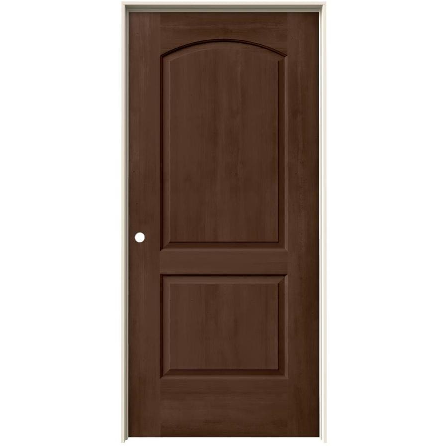 JELD-WEN View Milk Chocolate Hollow Core Molded Composite Single Prehung Interior Door (Common: 36-in x 80-in; Actual: 37.562-in x 81.688-in)
