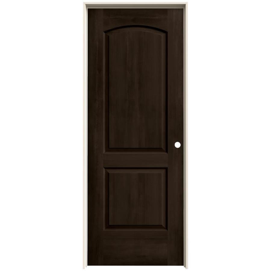 JELD-WEN View Espresso Solid Core Molded Composite Single Prehung Interior Door (Common: 30-in x 80-in; Actual: 31.562-in x 81.688-in)