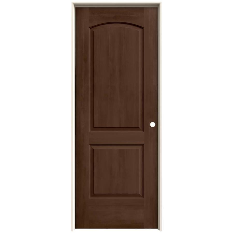 JELD-WEN View Milk Chocolate Solid Core Molded Composite Single Prehung Interior Door (Common: 32-in x 80-in; Actual: 33.562-in x 81.688-in)