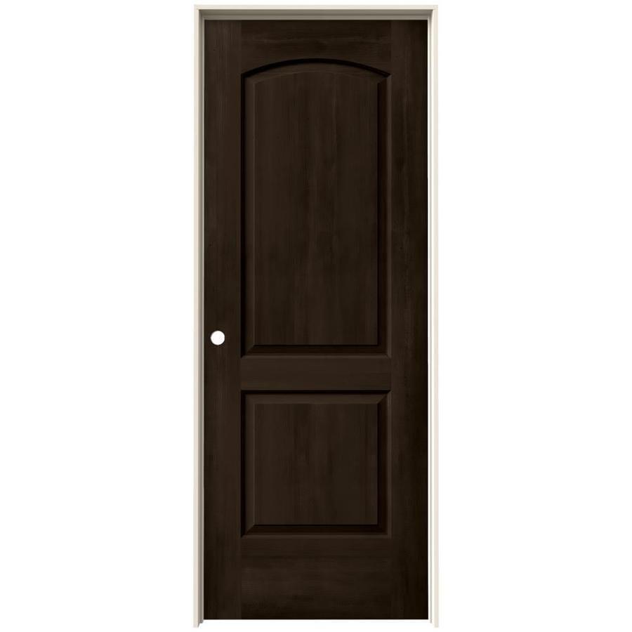 JELD-WEN View Espresso Solid Core Molded Composite Single Prehung Interior Door (Common: 32-in x 80-in; Actual: 33.562-in x 81.688-in)