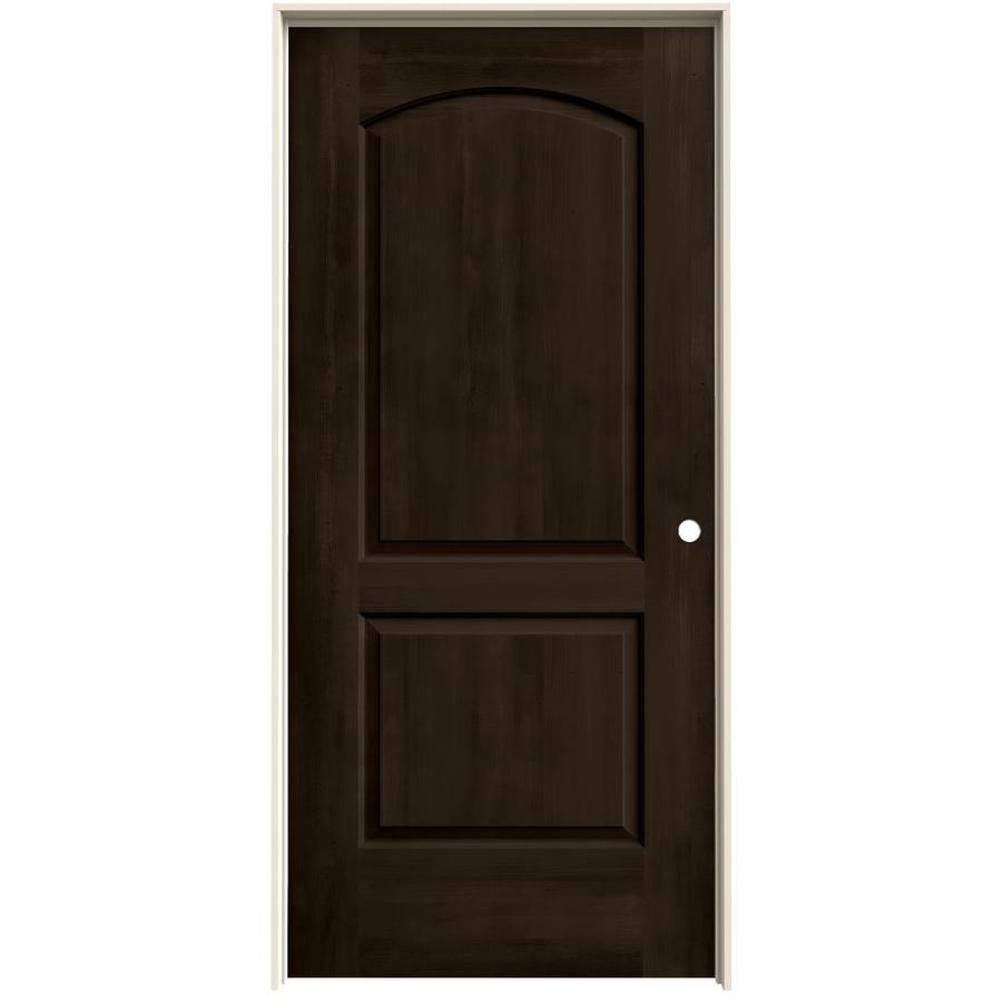 JELD-WEN View Espresso Solid Core Molded Composite Single Prehung Interior Door (Common: 36-in x 80-in; Actual: 37.562-in x 81.688-in)