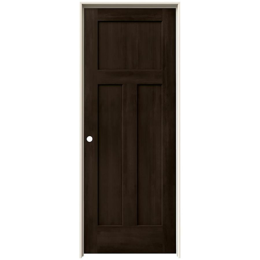 Shop Jeld Wen Woodview Espresso 3 Panel Craftsman Single Prehung Interior Door Common 30 In X