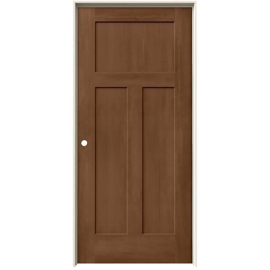 JELD-WEN View Hazelnut Solid Core Molded Composite Single Prehung Interior Door (Common: 36-in x 80-in; Actual: 37.562-in x 81.688-in)
