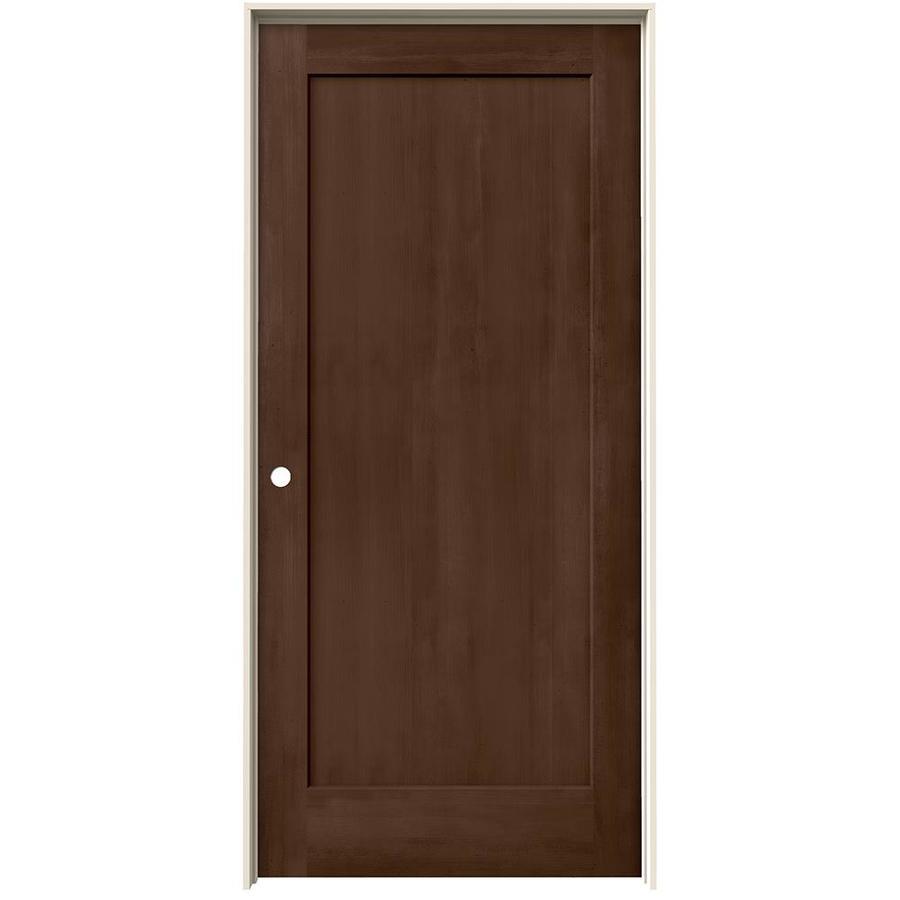 JELD-WEN View Milk Chocolate Hollow Core Molded Composite Single Prehung Interior Door (Common: 36-in x 80-in; Actual: 37.562-in x 81.688-in)