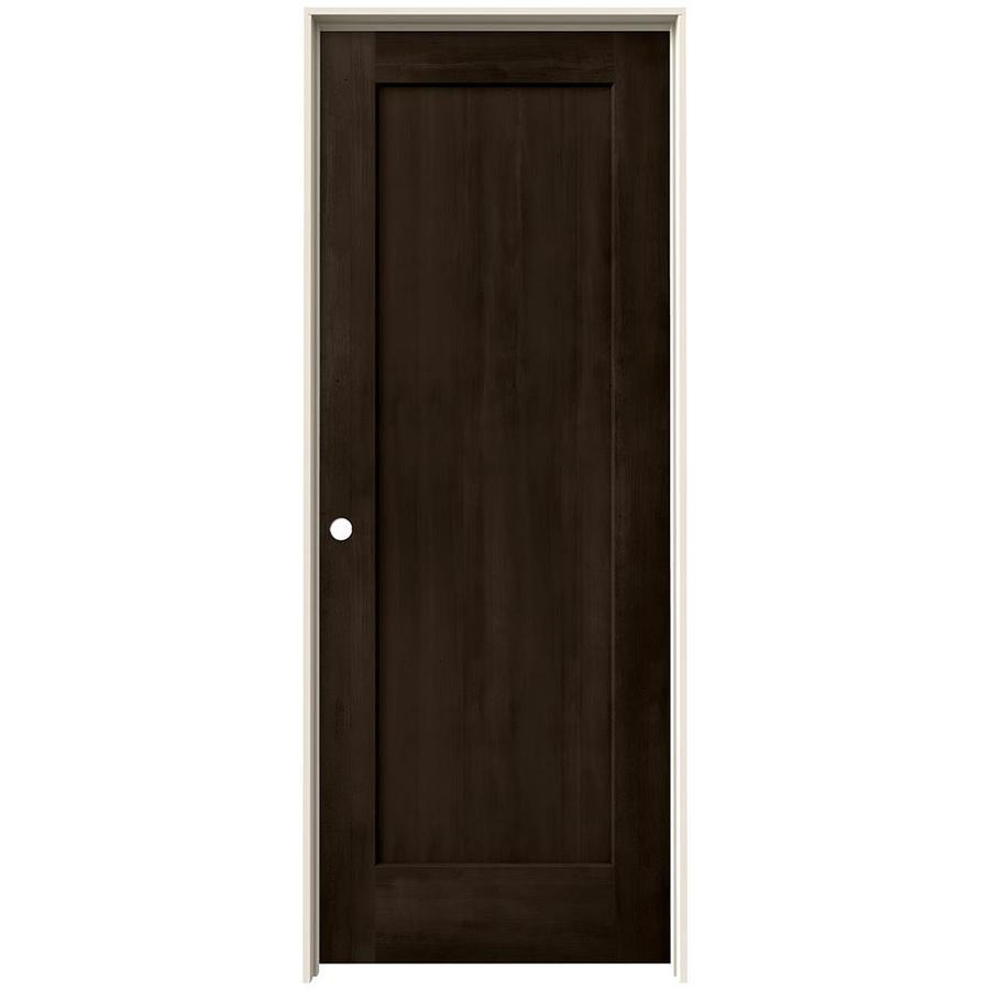 JELD-WEN View Espresso Solid Core Molded Composite Single Prehung Interior Door (Common: 24-in x 80-in; Actual: 25.562-in x 81.688-in)